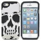 Skull-Style-Protective-Back-Case-for-iPhone-5-Silver+Black-or-Black+Black